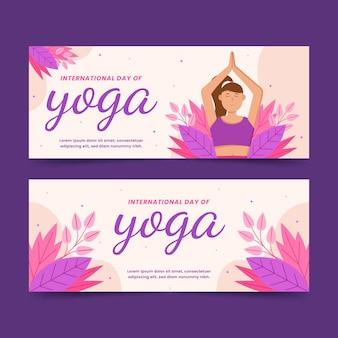 Ustawić płaski międzynarodowy dzień jogi