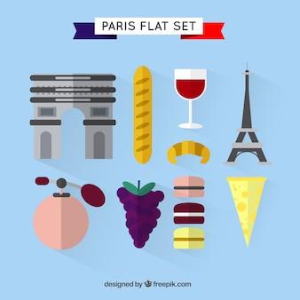 Ustawić płaskie elementy paryż