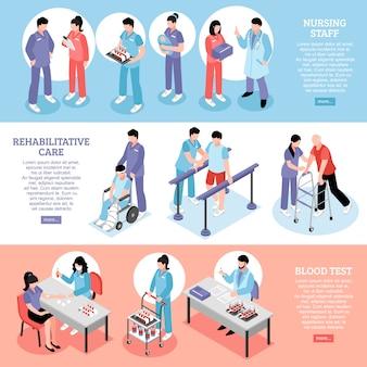 Ustawić poziome bannery szpitalne