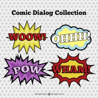 Ustawić ręcznie rysowane komiczne dialogi