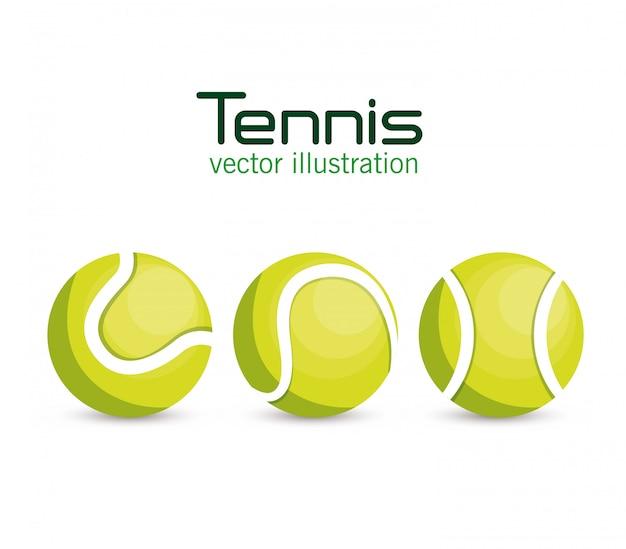 Ustawić sport tenisowy piłkę