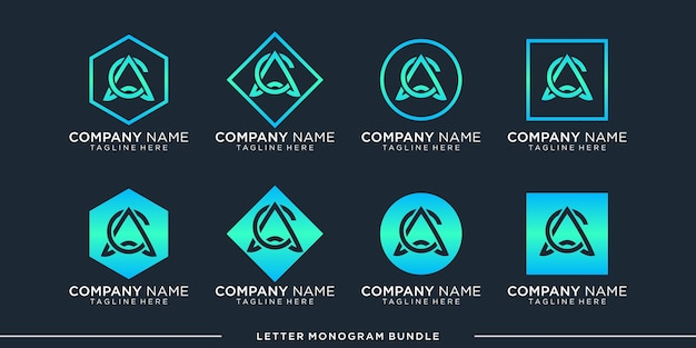 Ustawić szablon projektu logo monogram c