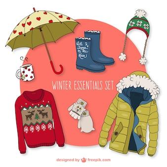 Ustawić zimowe essentials