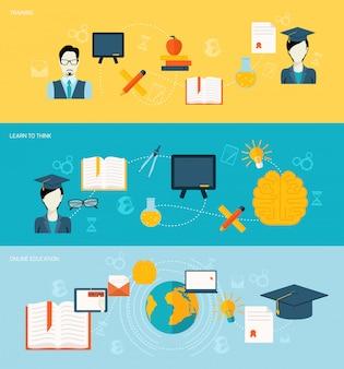 Ustawione banery edukacyjne