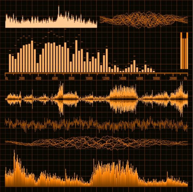 Ustawione fale dźwiękowe. muzyka w tle.