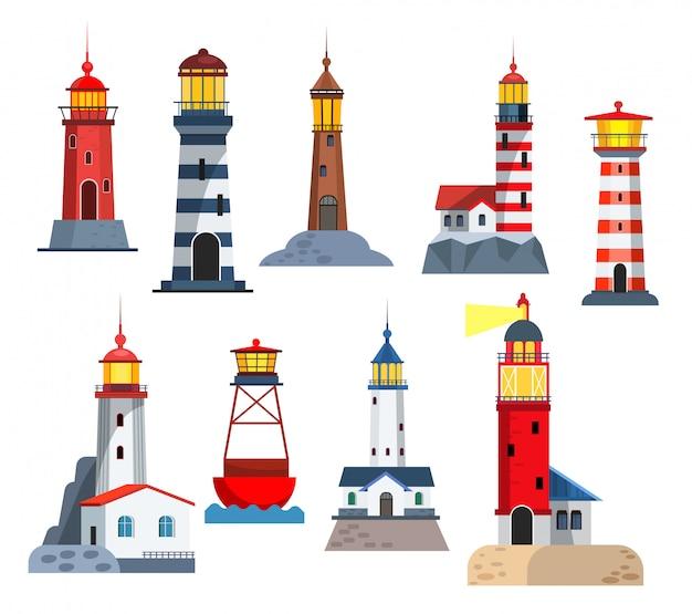 Ustawione wieże latarni