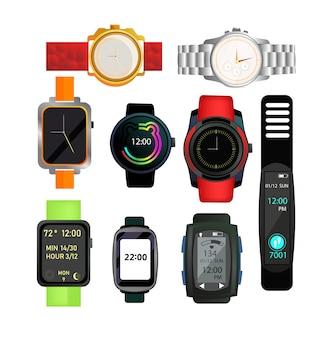 Ustawione zegarki cyfrowe i automatyczne