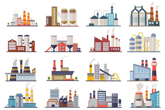 Ustawiono budynki energetyczne fabryki przemysłu wytwórczego