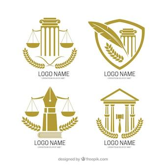 Ustawiony logotyp prawa