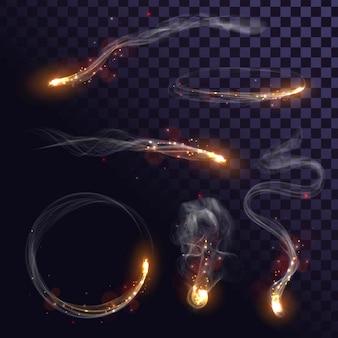 Ustawiony ogień i iskry