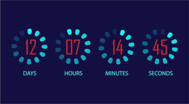 Ustawiony zegar odliczający