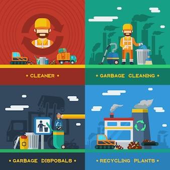 Usuwanie śmieci 2x2 concept