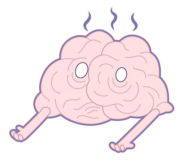 Uszkodzony topniejący mózg palący