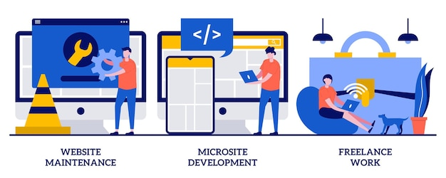 Utrzymanie strony internetowej, rozwój mikrowitryny, koncepcja niezależnej pracy z małymi ludźmi