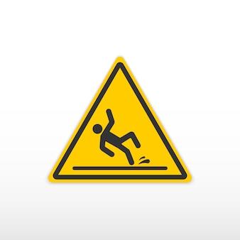Uwaga mokrej podłodze znak.