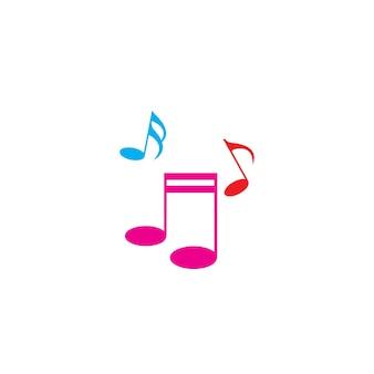 Uwaga muzyczna ikona wektor ilustracja projektu