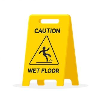 Uwaga znak mokrej podłodze