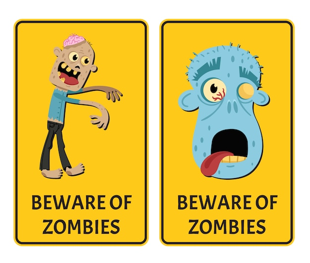 Uważaj na zestaw naklejek zombie z potworem