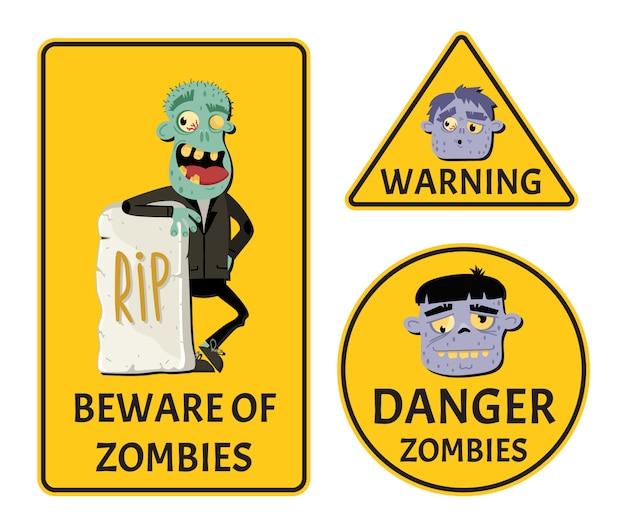 Uważaj na zestaw naklejek zombie