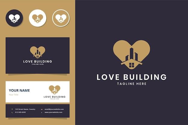 Uwielbiam budować projekt logo negatywnej przestrzeni