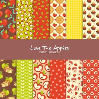 Uwielbiam kolekcje wzorów jabłek