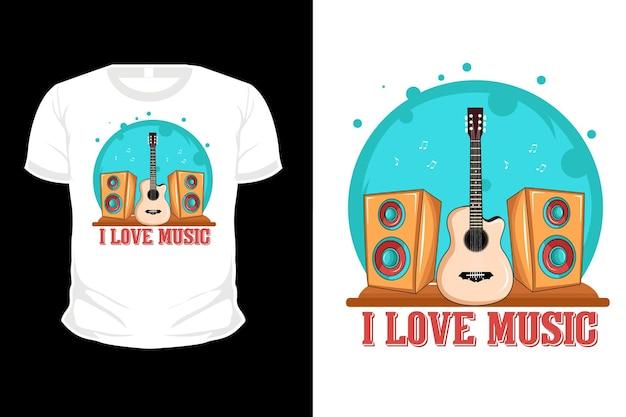 Uwielbiam koszulkę muzyczną