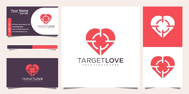 Uwielbiam projekt logo docelowego i wizytówkę