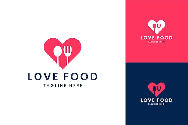 Uwielbiam projektowanie logo negatywnej przestrzeni żywności