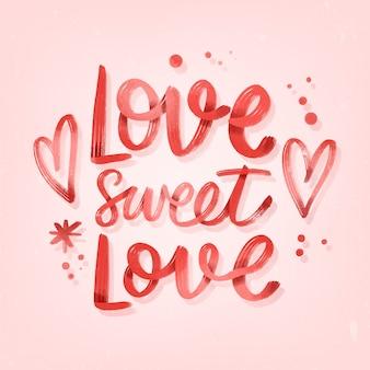 Uwielbiam słodki napis ślubny