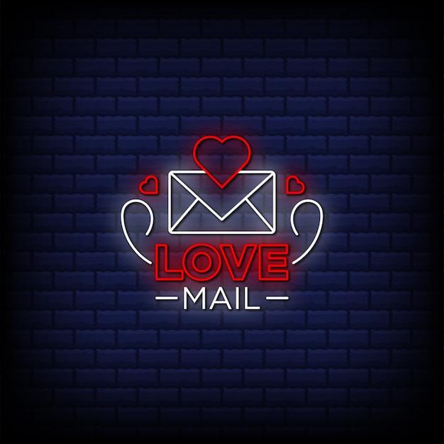 Uwielbiam tekst w stylu neonów pocztowych