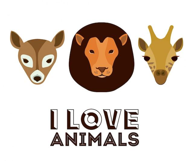 Uwielbiam zwierzątko ilustracji