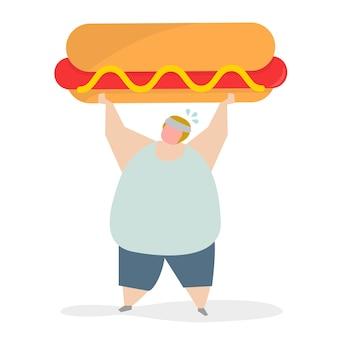 Uzależniony od fast-foodów i przekąsek
