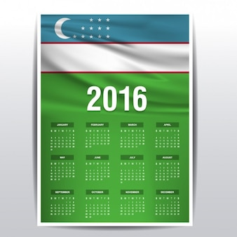 Uzbekistan kalendarz 2016
