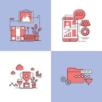 Uznanie ilustracji wektorowych koncepcji projektu