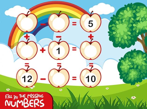 Uzupełnij brakującą koncepcję jabłka liczbowego
