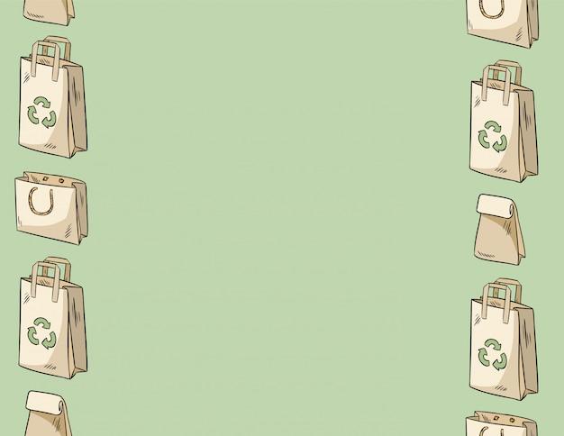 Użyj mniej plastikowych toreb papierowych bez szwu