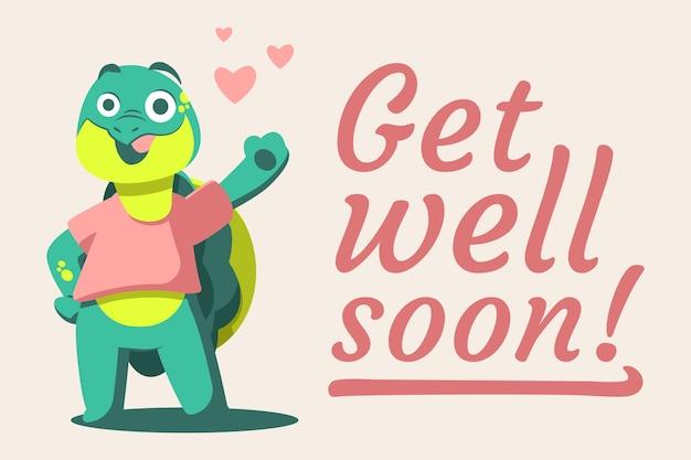 Uzyskać zdrowie wkrótce cytat i żółw