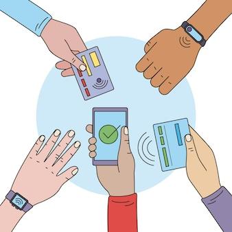 Użytkownicy płatności zbliżeniowych rozdają ręce