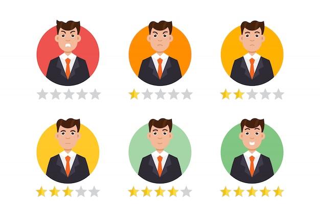 Użytkownik opinii. koncepcja opinii klientów.