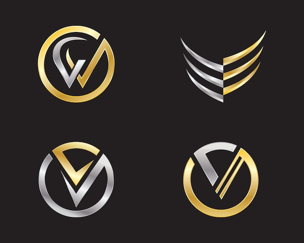 V list logo szablon biznes wektor ikona design