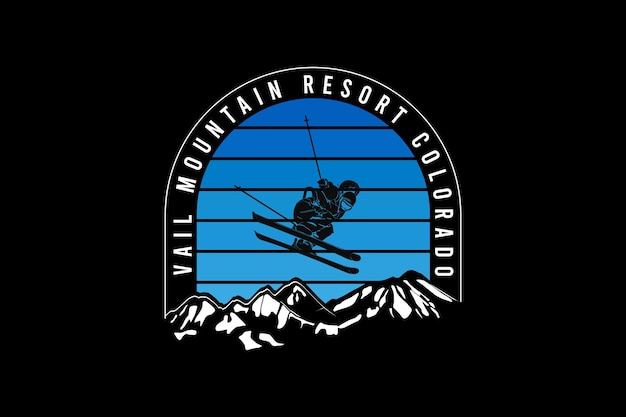 Val mountain resort colorado projekt muł w stylu retro.