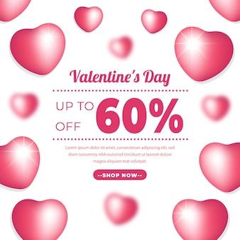 Valentine day banner z różowym kolorem.