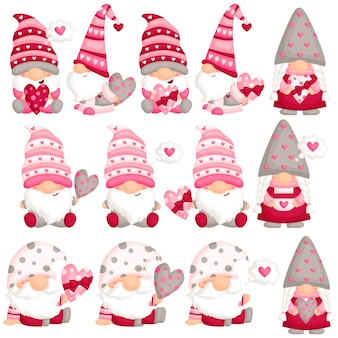 Valentine gnome in love