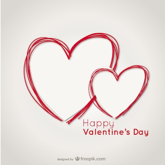 Valentine karty z literkami serca