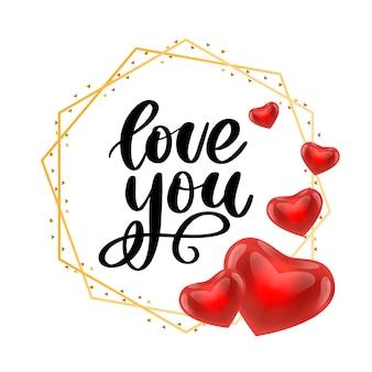 Valentine karty z typografią