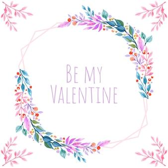 Valentine kwiatów tle