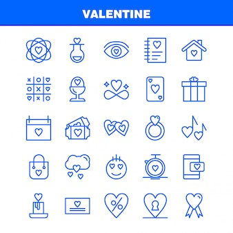 Valentine line icon pack. ikony kolby, miłość, romantyczny, walentynki, miłość, prezent, serce, walentynki