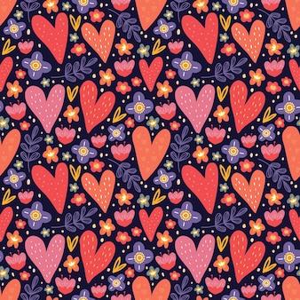 Valentine motyw wzór.