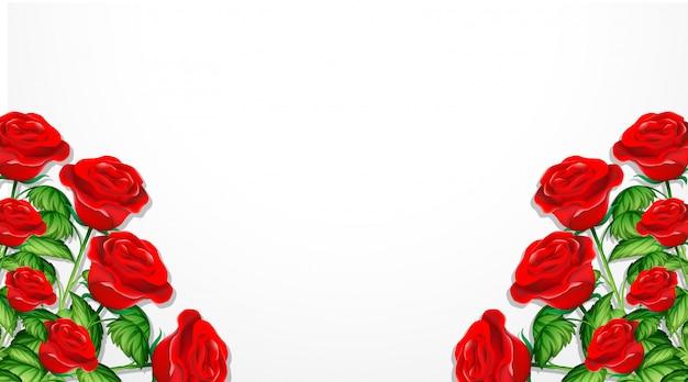 Valentine motyw z czerwonymi różami
