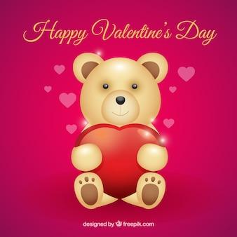 Valentine nadziewane niedźwiedź tło